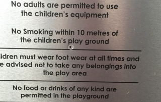 A generalised public liability sign found at public spaces