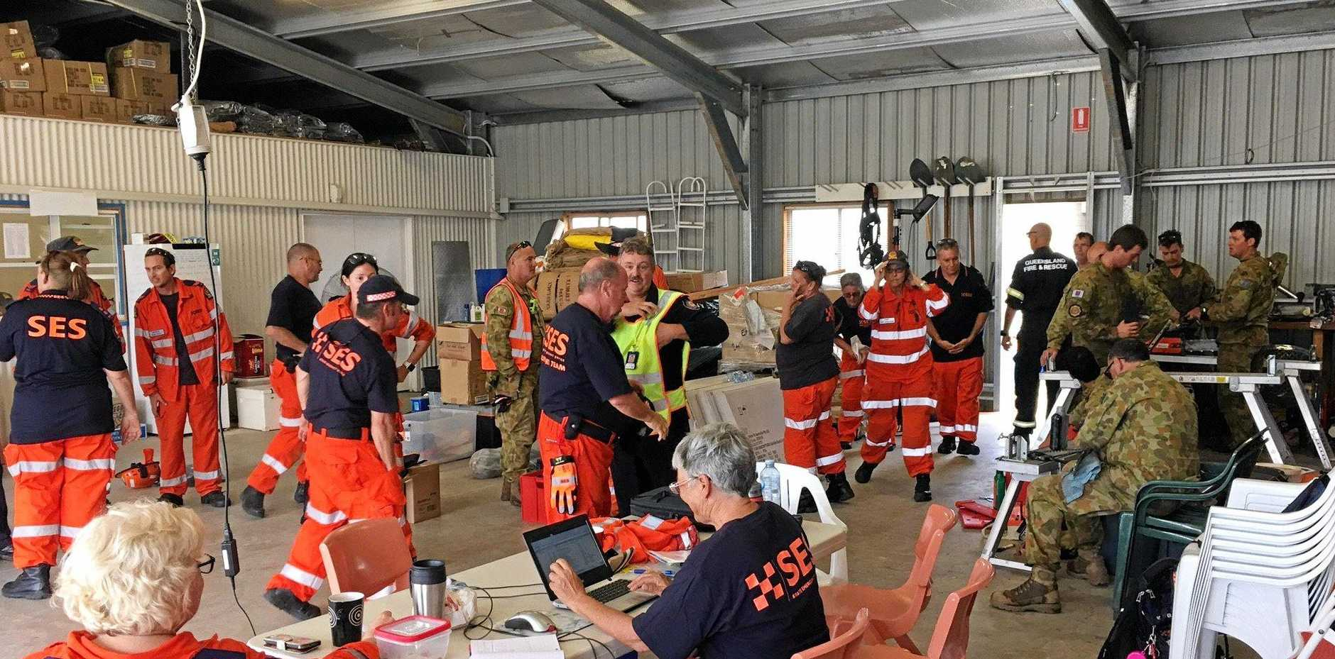 Meeting of emergency workers